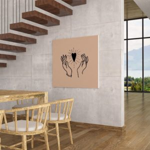 heart-in-our-hands-wallpaper-rose-canvas-interior